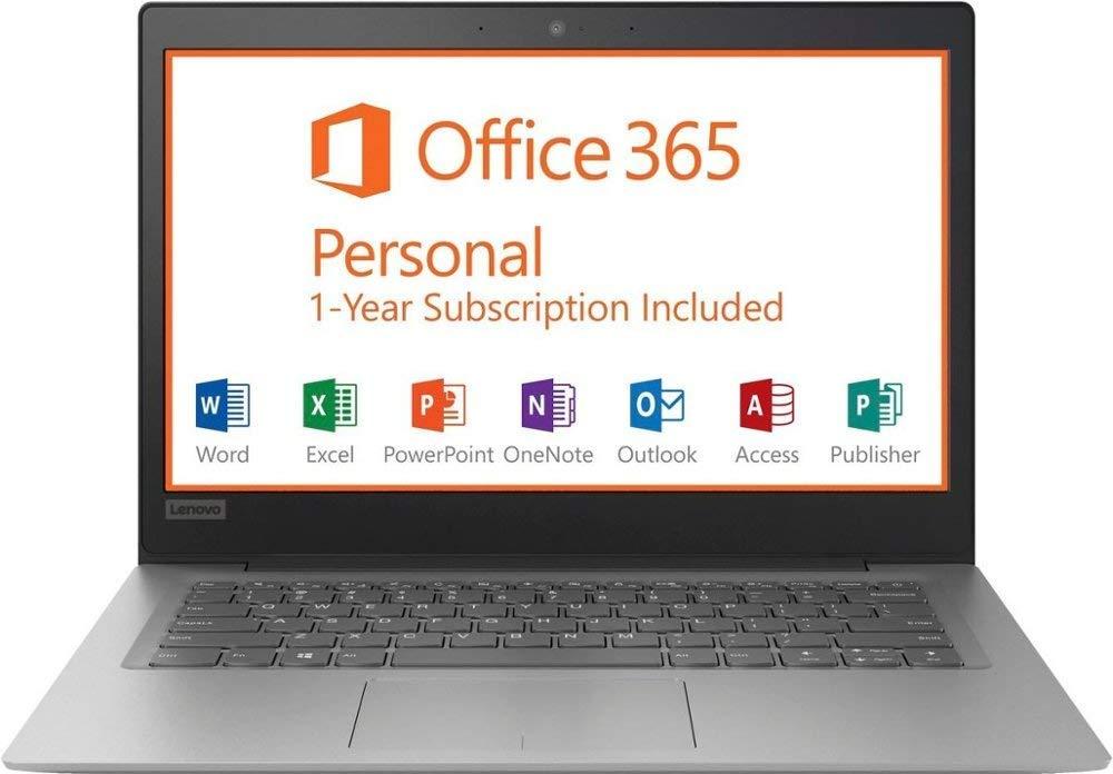 2019 Lenovo 14'' HD Laptop Computer, Intel Celeron N3350 up to 2.4GHz Processor, 2GB RAM, 32GB eMMC Flash Memory, HDMI, 802.11AC WiFi, Bluetooth 4.0, USB 3.0, 1-Year Microsoft Office 365, Windows 10