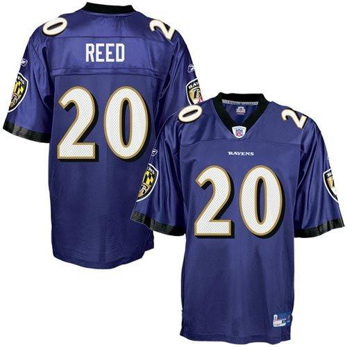 Amazon.com   Reebok NFL Equipment Baltimore Ravens  20 Ed Reed Purple  Replica Football Jersey   Athletic Jerseys   Clothing 82f92dee0
