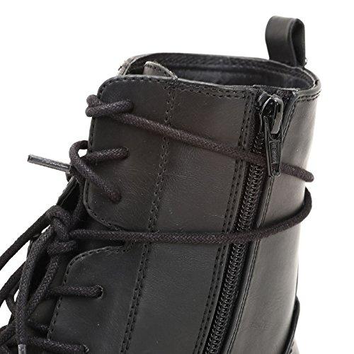 Bajos Negro Suela Rayada Scarpe Botines y Cordones amp;Scarpe by OBSEL con ZF1IqI