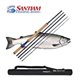Cheap Santiam Fishing Rods 5-piece 11'2″ 4/5wt Travel Switch Rod w/Hard Case