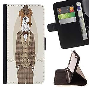 Skull Market - FOR Samsung Galaxy S6 EDGE - So go to sleep - Caja de la carpeta del tir¨®n del cuero de la PU [con ranuras para tarjetas y cierre de solapa magn¨¦tica] P¨¢rese cubierta de la caja