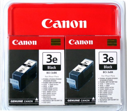 - Canon 4479A271 BCI-3e Black Twin Pack