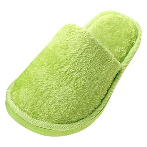 Peluche amp; KINDOYO Pantoufles Coton Confortable Hommes Chaud Hiver Vert Chaussons Chaussures femmes Femmes gqgF1