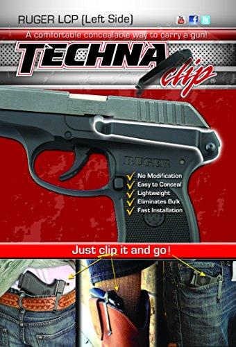Techna Clip - Ruger LCP .380 - Conceal Carry Belt Clip (Left-Side) - Civilian Clip Point