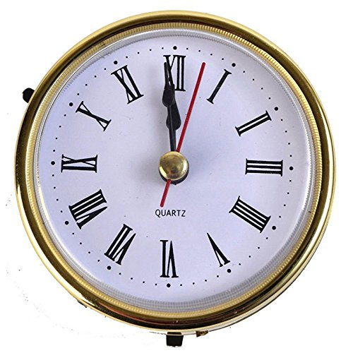 (Classic Clock Craft Quartz Movement 2-1/2 (65mm) Round Clocks Head Insert Roman Number)
