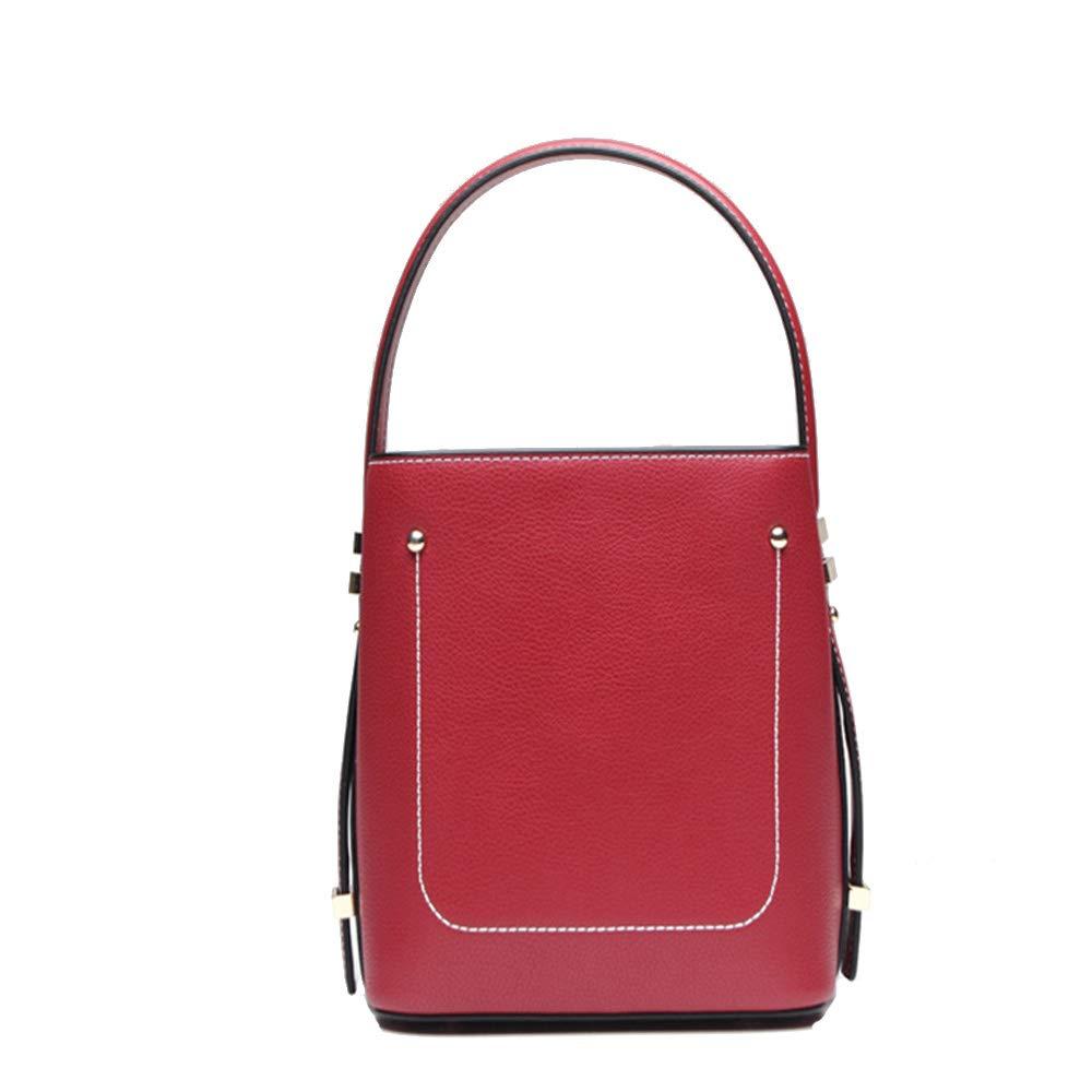 早い者勝ち ハンドバッグ サイズ Medium シンプルでスタイリッシュな女性のヴィンテージレザーハンドバッグ人格ポータブルバケツスタイルシンプルクロスボディショルダーバッグストラップ付き毎日の週末のレジャーバッグ (色 : ブラック, サイズ Medium|赤 : M) B07QFTMT2K 赤 Medium Medium|赤, スマフォケースRio:77ba3d18 --- ciadaterra.com