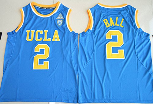 2017 UCLA Bruins Lonzo Ball 2 College Basketball Mens Jersey Blue S