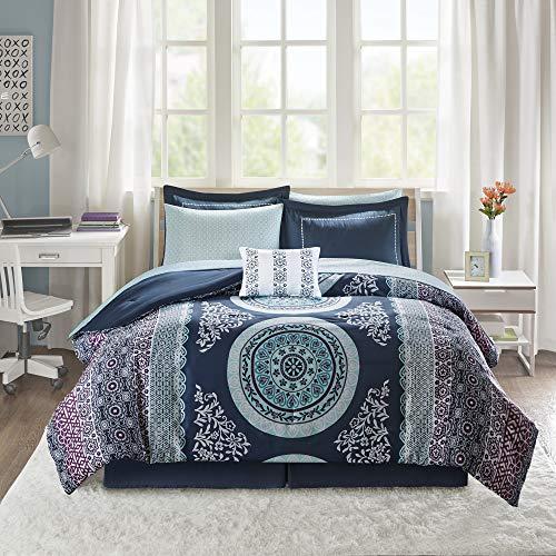 Intelligent Design Complete Bag Casual Boho Comforter with Sheet Decorative Pillow, All Season Bedding Set, Queen…