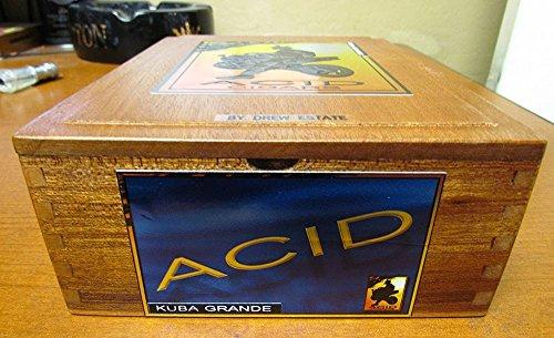 Cedar Acid Kuba Kuba Wooden Cigar Box By Drew Estate with Insert Empty - Cigars Acid Drew Estate