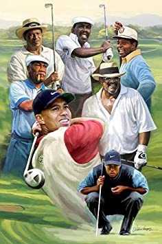In Good Company African American Golf Legends by Wishum Gregory Unframed Art Print – 24×20 inches
