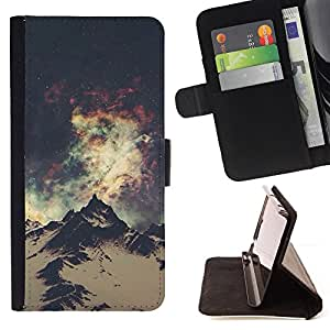 "For Samsung Galaxy J1 J100,S-type Sky Lights Vía Láctea Everest"" - Dibujo PU billetera de cuero Funda Case Caso de la piel de la bolsa protectora"