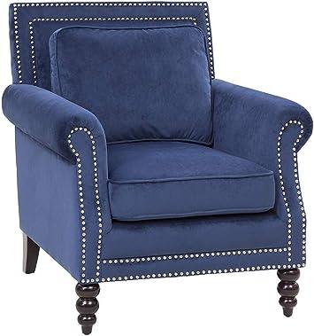 Grafton Blair Accent Chair Royal Blue Furniture Decor