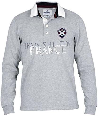Shilton-Polo de rugby, diseño de la selección de Francia Gris ...