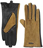 Calvin Klein Women's Perforated Suede Leather Gloves, Camel, Small