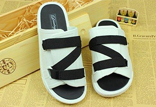 Chaussures Trend Tongs Chaussures taille Care homme xing pour lin Grande pour Sandales Sandales d'été les 4240 amateurs homme nbsp;Blanc Tongs de mode homme wZwxOIqX