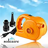 High Pressure, Highest Velocity Turbo Electric Inflator Pump Works As Raft Pump, Air Mattress Pump, Inflatable Boat Pump or For Your Inflatable Kiddie Pool. Works off 120V AC Power Supply