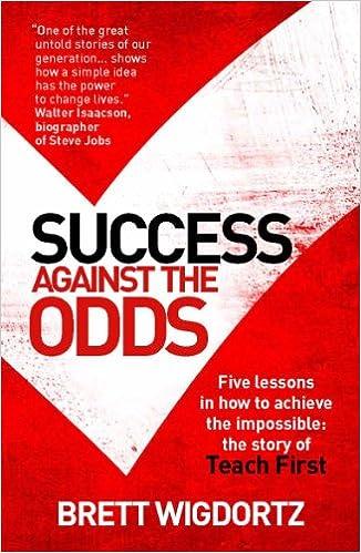Image result for success against the odds brett wigdortz