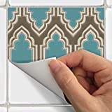 Tile Stickers Morrocan 40pc 6x6in Peel and Stick for kitchen and bath E001-6 40pcs