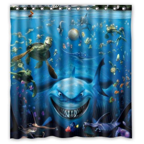 Scottshop Custom finding nemo Shower Curtain High Quality Waterproof Polyester Fabric Bathroom Shower Curtains 66