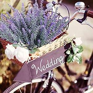 Veryhome Artificial Lavender Flowers Bouquet Fake Lavender Plant for Wedding Home Garden Decor 8 Bundles 4