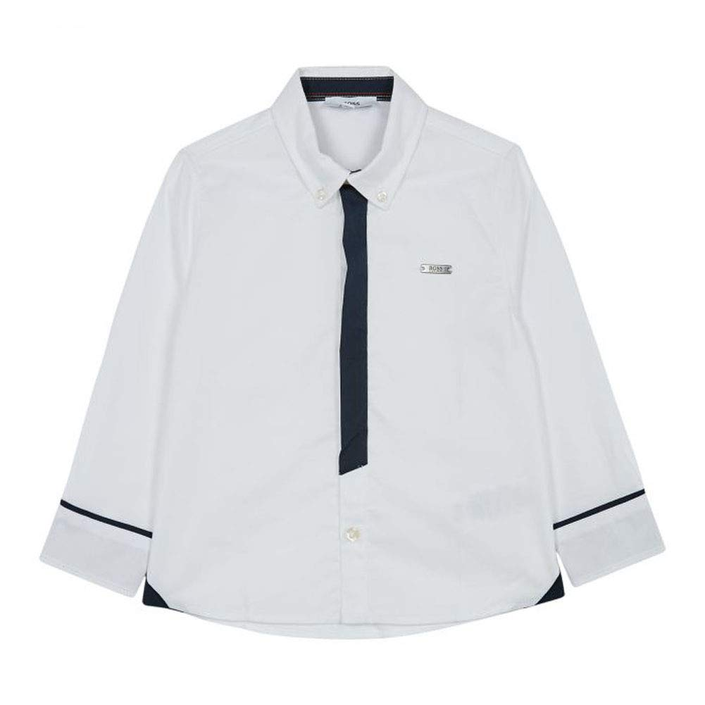 Hugo Boss Boys White Woven Dress Shirt Top 3 Years