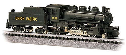 - Bachmann Industries #1838 Prairie 2-6-2 Locomotive and Tender U.P. Train Car, N Scale