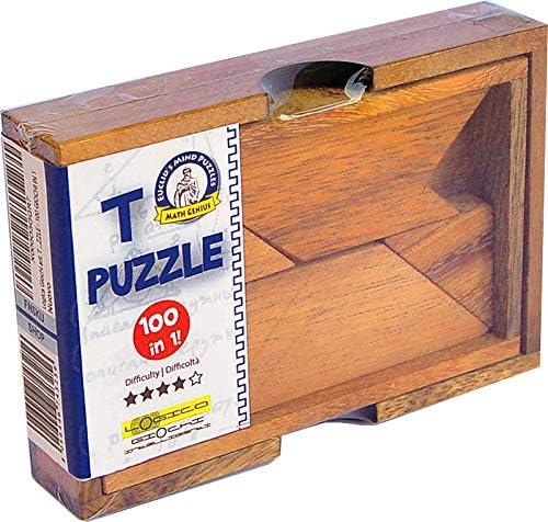 LOGICA GIOCHI Art. T Puzzle - 100 Puzzles en 1 – Rompecabezas de Madera Preciosa - Puzzle Inteligente - Dificultad 4/6 Extrema - Puzzle Geometrico: Amazon.es: Juguetes y juegos