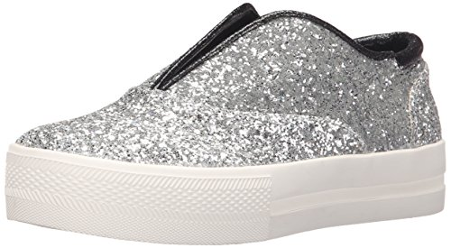 Michael Antonio Women's Druce-GLIT Fashion Sneaker, Silver, 6 M US