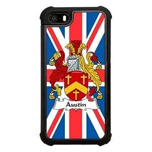 Austin Family Crest British Coat of Arms Click America Tuff Impact iPhone 5s Case