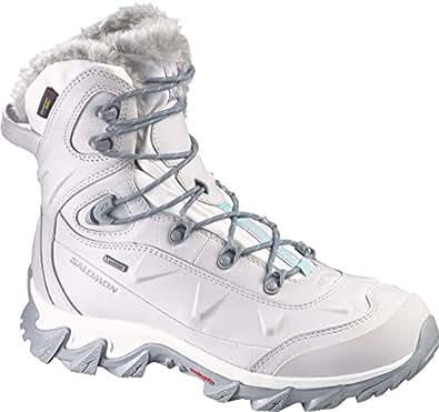 SALOMON Women's Nytro GTX Winter Boots, Steel Grey Steel Gry/Cane/Softy Black 7
