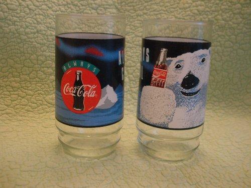 indiana-glass-coca-cola-coca-cola-always-coca-cola-white-polar-bear-set-of-8-glasses-coolers-16-oz