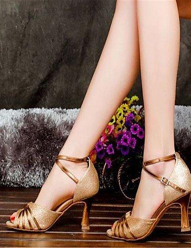 ShangYi Tanzschuhe Nicht Anpassbare - Absatz mit Schlag - Satin - Latin - Damen Gold