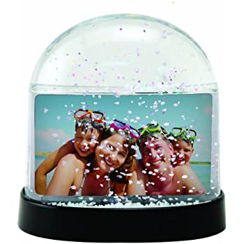 Holds 2 Photos Neil Enterprises Inc Apple Photo Snow Globe
