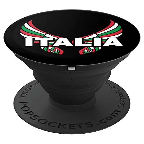 Wings Italia (Proud Italian - Italia Design - Italian Wings - I Love Italy - PopSockets Grip and Stand for Phones and Tablets)