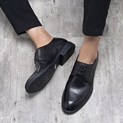 A Oxford HGDR Black For Men Uomo In Scarpe Sera Shoes Wedding In Nero Da Scarpe Derby Business Da Pelle Marrone Uomo Party Punta Dress r6wqgrz