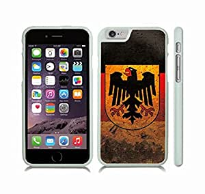 iStar Cases? iPhone 6 Case with Germany Flag Grunge Look Design , Snap-on Cover, Hard Carrying Case (White)