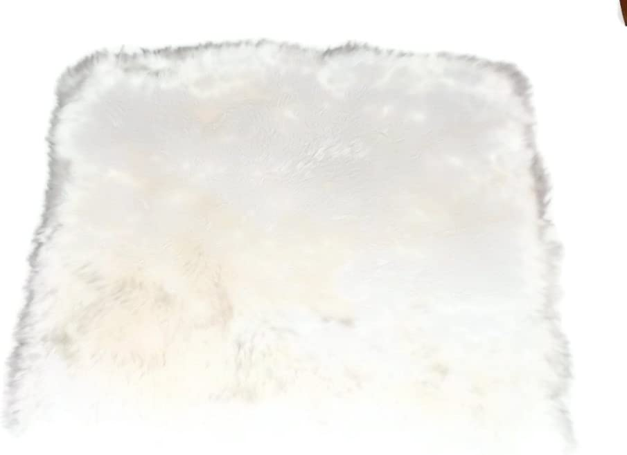 Genuine Australian Sheepskin Chair Cushions Wool White