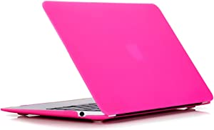 RUBAN Case for MacBook Air 13 inch 2020 2019 2018 Release A2337 M1 A2179 A1932 - Protective Snap On Hard Shell Cover for New Version MacBook Air 13 with Touch Bar, Hot Pink