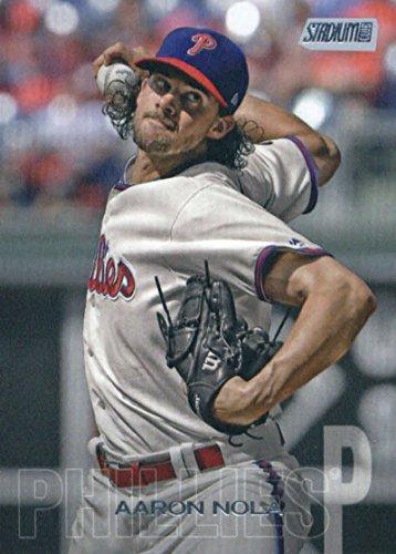 2018 Topps Stadium Club #253 Aaron Nola Philadelphia Phillies MLB Trading Card