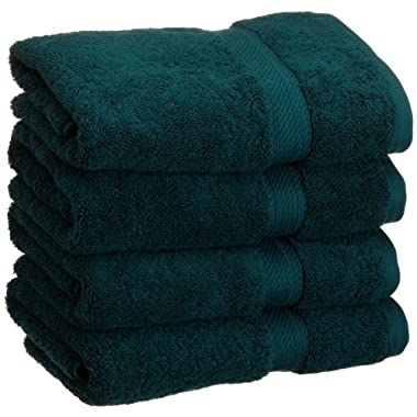 Superior 900 Gram 100% Premium Long-Staple Combed Cotton 4-Piece Hand Towel Set, Teal