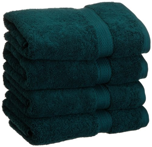 Superior 900 GSM Luxury Bathroom Hand Towels, Made Long-Staple Combed Cotton, Set of 4 Hotel & Spa Quality Hand Towels - Teal, 20