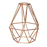 Copper Coloured Metal Geometric Wire Light Shade