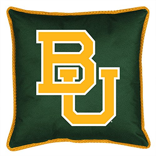 NCAA Baylor Bears 04JSSDL4BAY1818 Sidelines Toss Pillow, 17 x 17, Dark - Pillow Bears Baylor