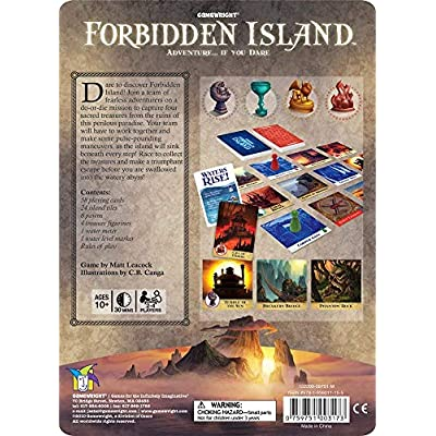 Forbidden Island – The Cooperative Strategy Survival Island Board Game: Gamewright: Toys & Games
