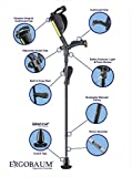 New Generation Ergobaum Ergonomic Crutch/Cane (Single Unit) Single Unit Ergobaum That Acts As a Extra Balance Strong Performance Cane.