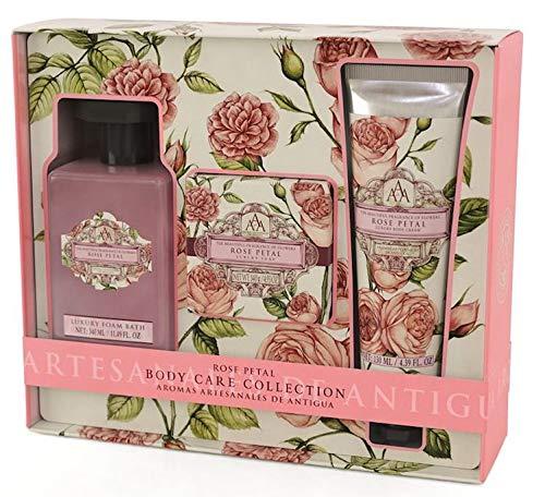 - AAA Rose Petal Body Care Collection: Foam Bath, Bar Soap & Body cream