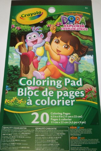 [Dora the Explorer Coloring Pad by Crayola ~ Dora and Boots Swinging Cover (20 pages; 4.5