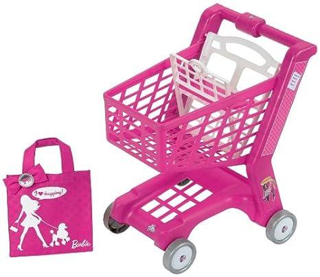 KLEIN 9684 Barbie - Carrito y bolsa de la compra, color rosa: Amazon.es: Juguetes y juegos