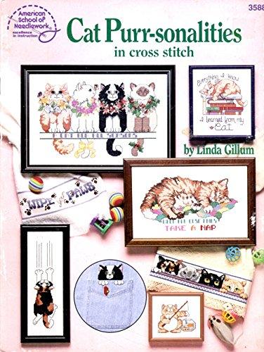 Cat Purr-sonalities in Cross Stitch