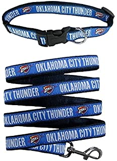 Golden State Warriors Nylon Collar for Pets and Matching Leash Size Medium NBA Official by Pets First